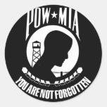 POW-MIA Flag Stickers