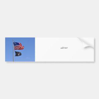 POW MIA Flag with Old Glory Bumper Stickers