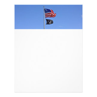 POW MIA Flag with Old Glory Full Color Flyer
