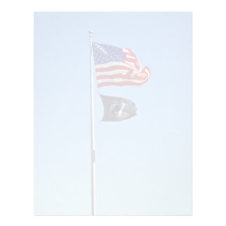 POW MIA Flag with Old Glory Personalized Flyer