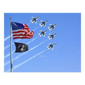 POW MIA Flag with Old Glory The Thunderbirds Full Color Flyer