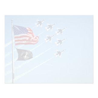 POW MIA Flag with Old Glory The Thunderbirds Flyer