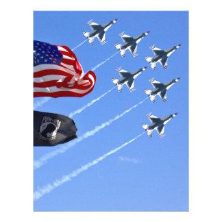 POW MIA Flag with Old Glory & The Thunderbirds Full Color Flyer