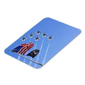 POW MIA Flag with Old Glory & The Thunderbirds Magnet