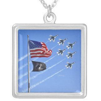 POW MIA Flag with Old Glory The Thunderbirds Necklaces