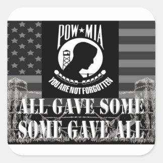 """""""POW-MIA"""" Military Stickers"""