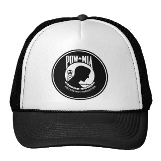 POW MIA - Round Trucker Hat