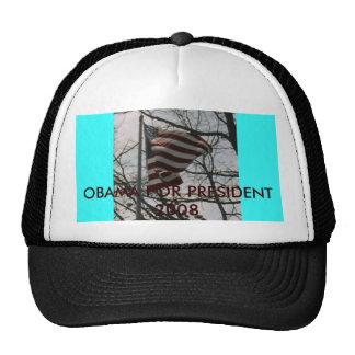 POW!!!!, OBAMA FOR PRESIDENT 2008 TRUCKER HAT