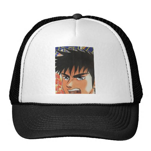 POW, POW, POW . . . Manga, Japanese comic figure Hat