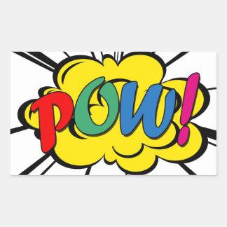 Pow! Rectangular Sticker