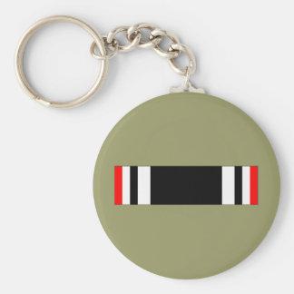POW Ribbon Basic Round Button Key Ring