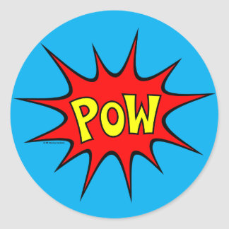 Pow! Round Sticker