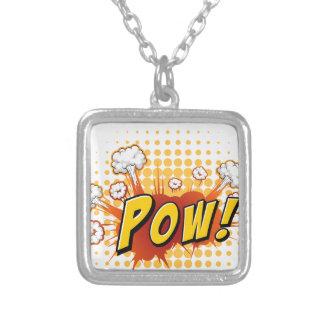 Pow Square Pendant Necklace