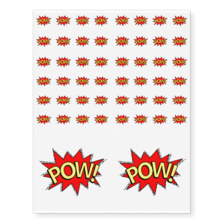 POW! - Superhero Comic Book Red/Yellow Bubble