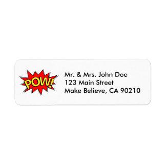 POW! - Superhero Comic Book Red/Yellow Bubble