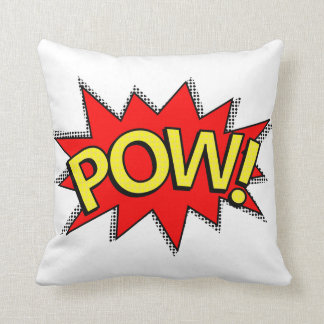 POW! - Superhero Comic Book Red/Yellow Bubble Cushion