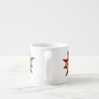 POW! - Superhero Comic Book Red/Yellow Bubble 6 Oz Ceramic Espresso Cup