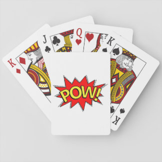 POW! - Superhero Comic Book Red/Yellow Bubble Playing Cards
