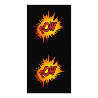Pow Superhero Fight Picture Card