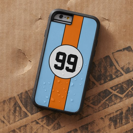 Powder Blue and Orange Livery Custom iPhone 6
