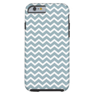 Powder Blue Chevrons Pattern Tough iPhone 6 Case
