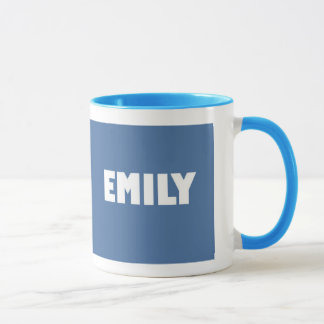 Powder blue Emily name Mug