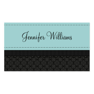 Powder Blue Label Ribbon Business Cards