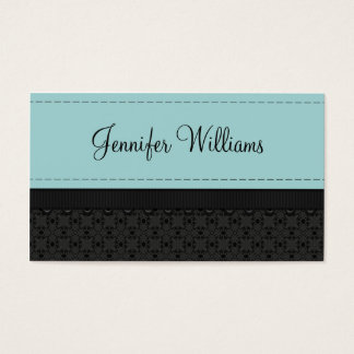 Powder Blue Label Ribbon Business Cards