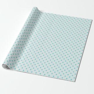 Powder Blue & Medium Blue Polka Dot Wrapping Paper