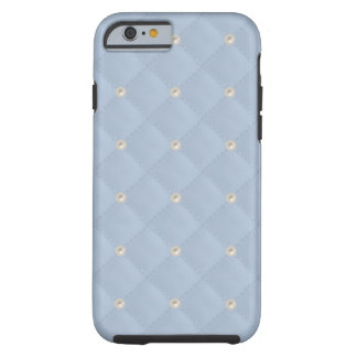 Powder Blue Pearl Stud Quilted Tough iPhone 6 Case
