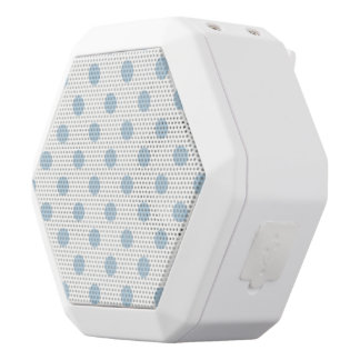 powder blue ,polka dot,white,cute,girly,trendy,fun white boombot rex bluetooth speaker