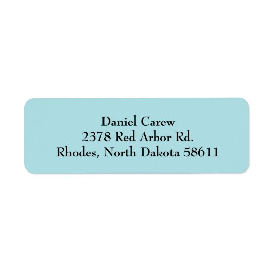 Powder Blue Simple Plain Return Address Labels