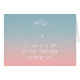 Powder Blue Slate Parents of Bride Congratulations Greeting Card