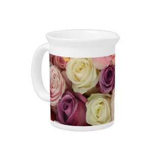 Powder colored roses by Therosegarden Pitcher