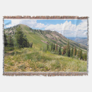 Powder Mountain Summertime: James Peak Throw Blanket