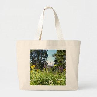 Powder Mountain Summertime: Wildflowers Jumbo Tote Bag