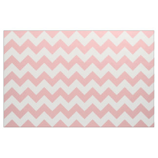 Powder Pink Chevron Zigzag Fabric