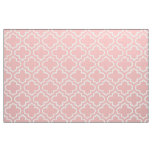 Powder Pink Moroccan Trellis Pattern Fabric 02