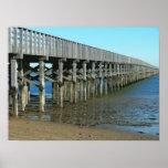 powder point bridge duxbury ma. wooden bridge print