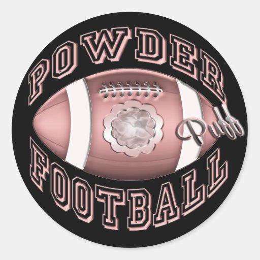 Powder Puff Football Sticker