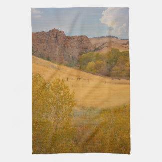 Powder River Fence Landscape Kitchen Towel
