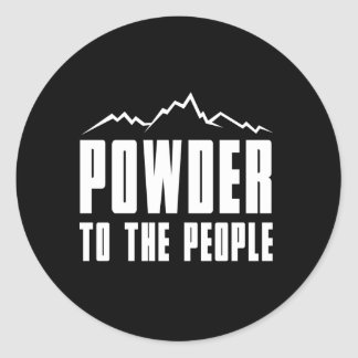 Powder to the People Classic Round Sticker