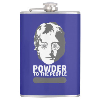 Powder To The People (snowboard) Flasks