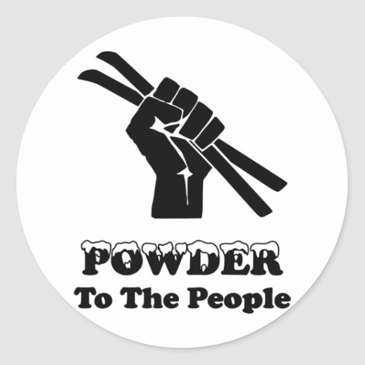 Powder To The People Round Stickers