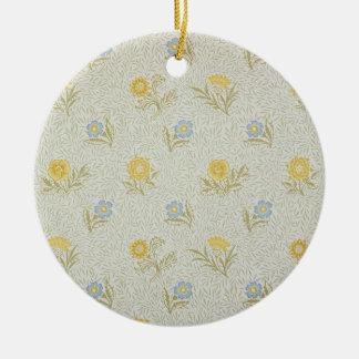 Powdered wallpaper design, 1874 christmas ornament
