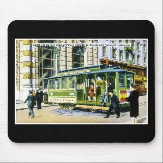 Powell and Market Streets, San Francisco, CA Mouse Mat