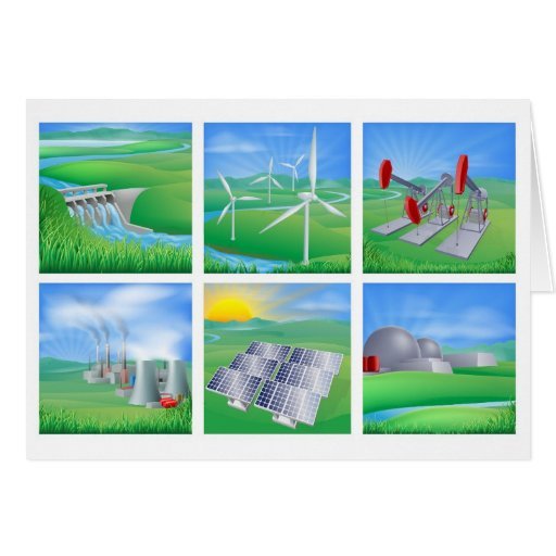 Power and Energy Sources Greeting Cards