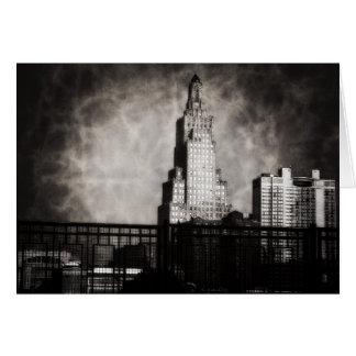 Power and Light Building, Kansas City, Grunge Greeting Card