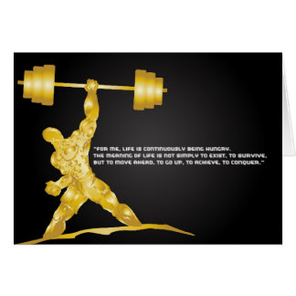 Power and Strength Greeting Card