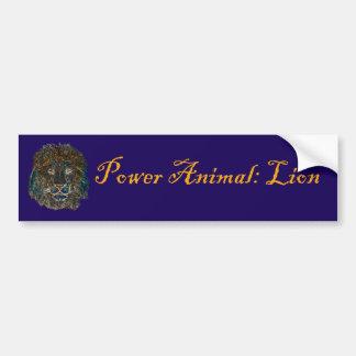 Power Animal Lion Bumper Sticker